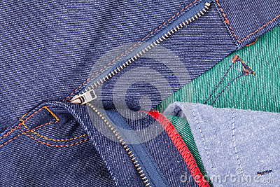 Denim zipper