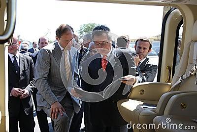 Denis Manturov and Juseppe Orsi Editorial Stock Photo
