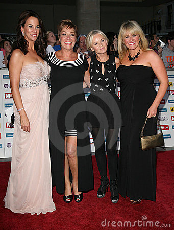 Denise Welch, Lisa Maxwell, Maxwell, Sally Lindsay Editorial Stock Photo