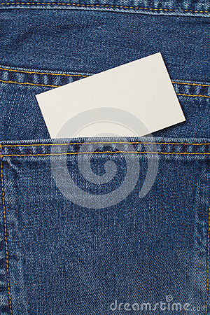 Free Denium Blue Jean Pocket Witn Business Card Royalty Free Stock Photos - 62435168