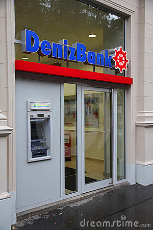 Deniz Bank Editorial Stock Photo