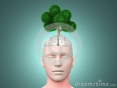 Denken Sie Grün