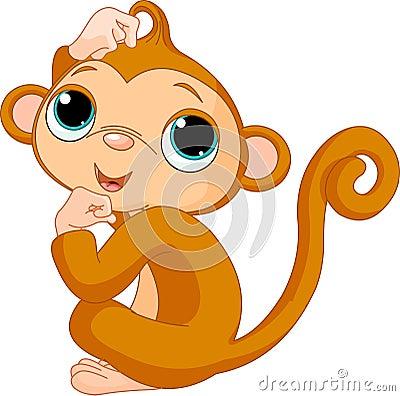 Denkende aap
