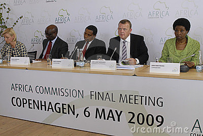 DENMARK Africa Commission Editorial Stock Photo
