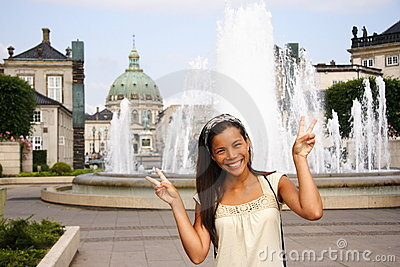 Denmark Asian woman tourist