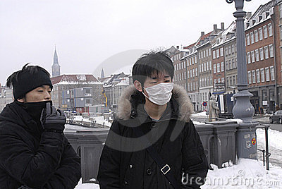 DENMARK CHINESE TOURISTS WITH MASK Editorial Stock Photo