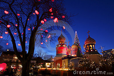 Denmark: Christmas atmosphere in Tivoli