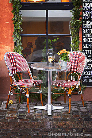 Denmark: Cozy restaurant and winter