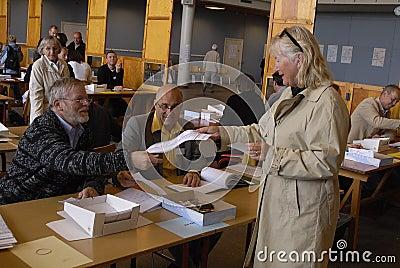 DENMARK_DANES CASTING VOTES Editorial Stock Photo