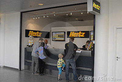 DENMARK_hertz rental car booking Editorial Photography