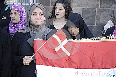 DENMARK_iraqi portest Editorial Photo