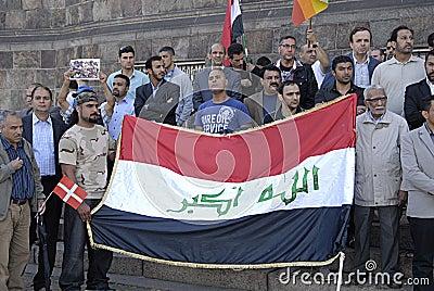 DENMARK_iraqi portest Editorial Stock Photo