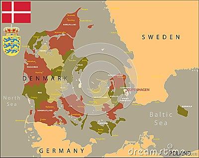 Denmark map.