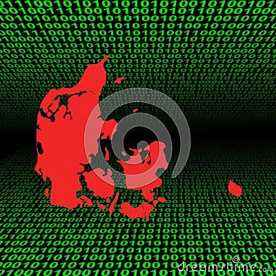 Denmark map on binary code