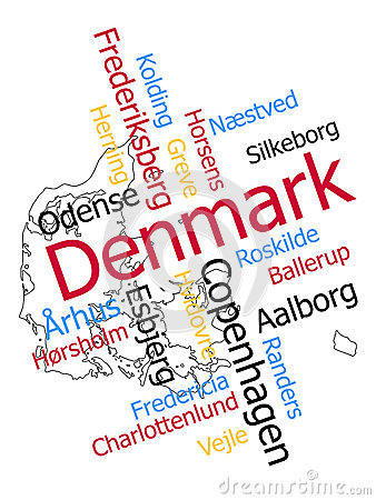Denmark map and cities