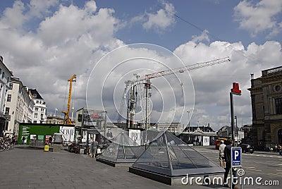 DENMARK_metro construction work Editorial Photography