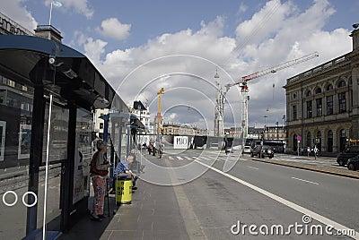 DENMARK_metro construction work Editorial Photo