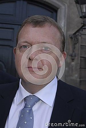 DENMARK NEW PRIME MINISTER LARS LOKKE RASMUSSENS Editorial Image