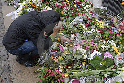 DENMARK_PEOPLE PAY RESPECT FOR NORWAY Editorial Stock Photo