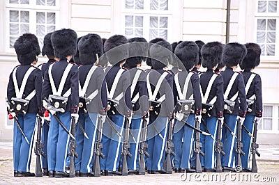 Denmark Royal guard Editorial Photo