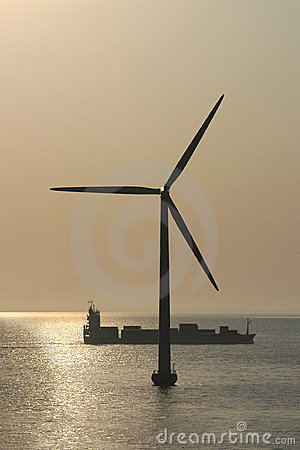 Free Denmark S Offshore Wind Generating Tubine Royalty Free Stock Photography - 8353717