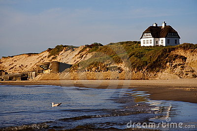 Denmark -White beach house