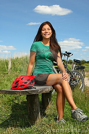 Denmark Woman biking