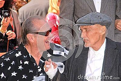 Dennis Hopper,Jack Nicholson Editorial Image