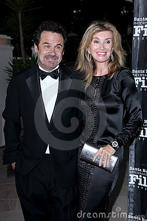Dennis Miller, Kirk Douglas Editorial Stock Photo