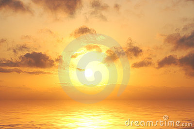 Denny wschód słońca