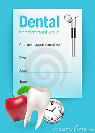 Appointment Card. Royalty Free Stock Images - Image: 18366009