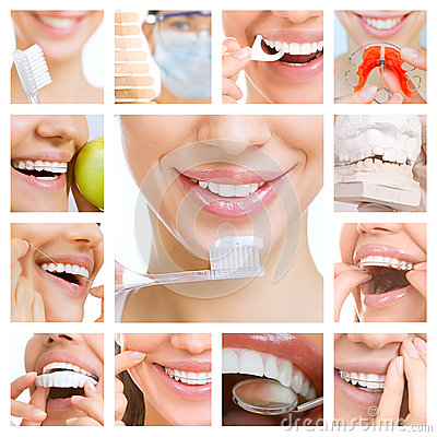 Free Dental Care Collage (dental Services) Royalty Free Stock Photo - 46282895