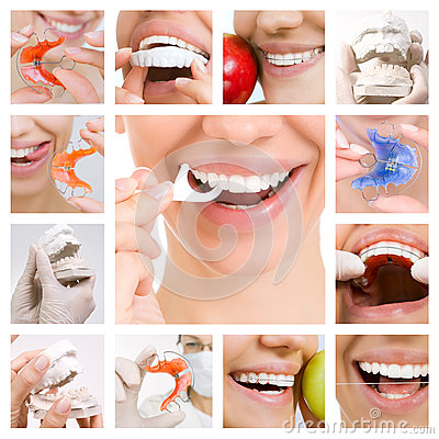Free Dental Care Collage (Dental Services) Royalty Free Stock Photo - 59341985