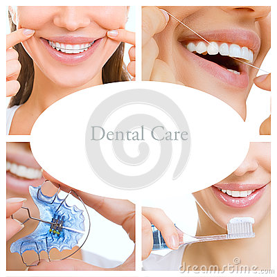 Free Dental Care Collage (dental Services) Royalty Free Stock Images - 59342099