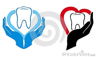 Dental care symbol