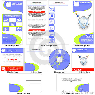 Dental care template design