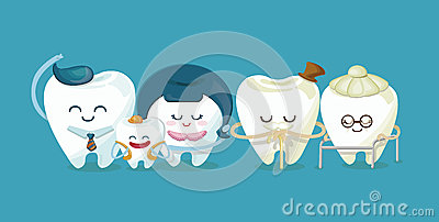 Dental family Vector Illustration