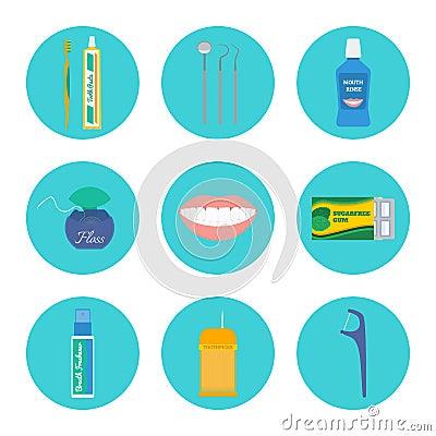 Free Dental Hygiene Vector Set Stock Photo - 76340230