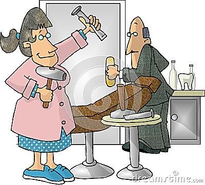 Dental Hygienist Cartoon Illustration