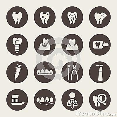 Free Dental Icon Set Stock Image - 37347101