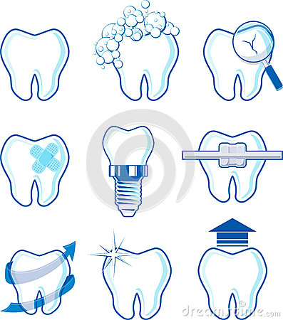 Free Dental Icons Vector Royalty Free Stock Images - 33169859