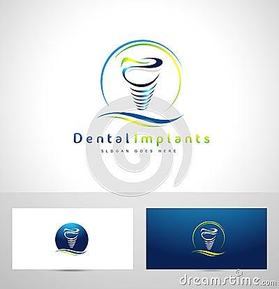 Dental Implants Logo Stock Vector - Image: 58253667