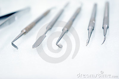Dental instrument.shallow DOF