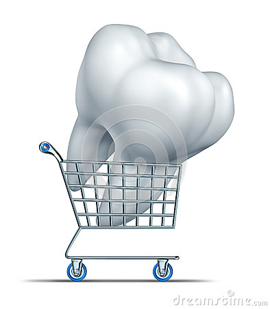 Free Dental Insurance Shopping Royalty Free Stock Image - 30029036