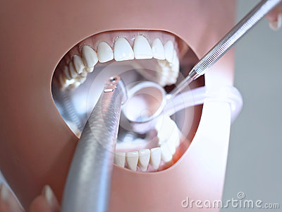Dental manipulations with phantom