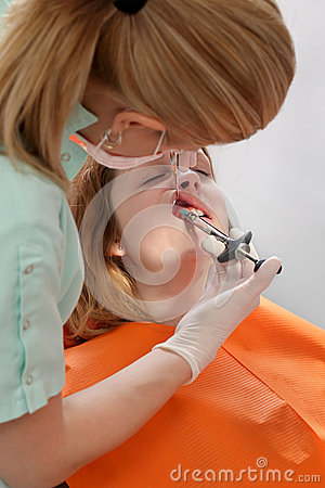 Dental procedure, anesthetic injection
