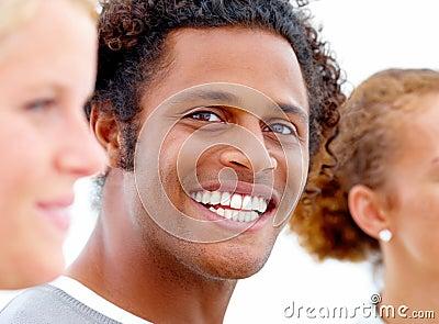 Dental - Smiling african american with nice teeth