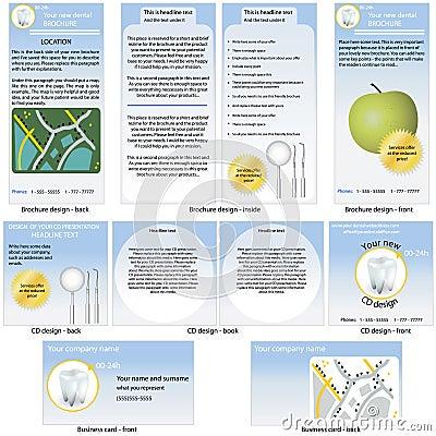 Dental stationary template