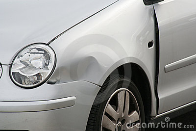 Dented Car Front Wing