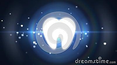 dentes Dentes saud?veis Dentes do deleite da odontologia sem dor ilustração royalty free